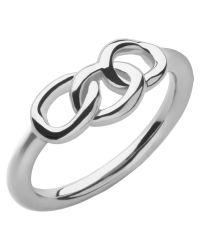 Links of London | Metallic Signature Mini Ring | Lyst