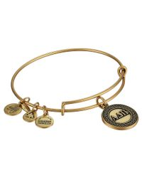 ALEX AND ANI | Metallic Alpha Delta Pi Charm Bangle | Lyst