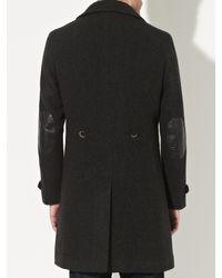 John Lewis Gray Shawl Neck Military Coat for men