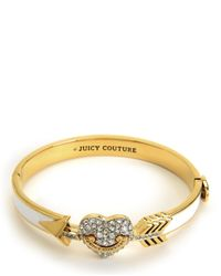Juicy Couture | Metallic Pave Heart & Arrow Enamel Bangle | Lyst