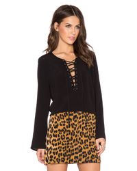 Bardot Black Hendrix Top