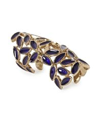 Bernard Delettrez | Purple Leaf Articulated Ring | Lyst