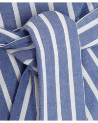 Vivienne Westwood Anglomania Blue Striped Square Blouse