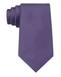 Calvin Klein | Purple Classic Fit Silk Birdseye Tie for Men | Lyst