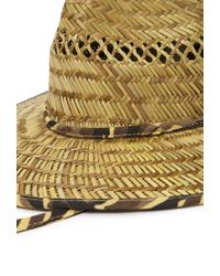 Forever 21 - Yellow Camo-trimmed Straw Breezer Hat You've Been Added To The Waitlist - Lyst