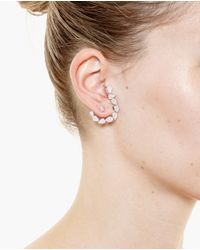 Yvonne Léon | Metallic 18K White Gold And Diamond Chain Earring | Lyst