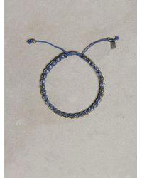John Varvatos | Gray Single Row Brass Skull Bracelet for Men | Lyst