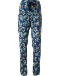 Markus Lupfer | Blue Tribal Monkey Silk Sweatpants | Lyst