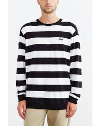 Stussy | White Stripe Long-sleeve Tee for Men | Lyst