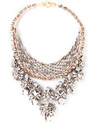 Shourouk - Metallic 'River Comet' Necklace - Lyst