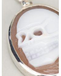 Iosselliani - Metallic Skull Cameo Earring - Lyst