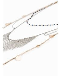 Mango | Metallic Chain Waterfall Necklace | Lyst