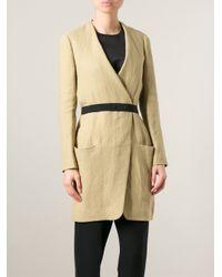 Isabel Marant - Natural Belted Coat - Lyst