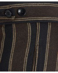 Etro | Brown Stripe Turn Up Trousers | Lyst