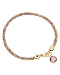 Astley Clarke Purple Biography 18ct Gold Vermeil Woven Friendship Bracelet
