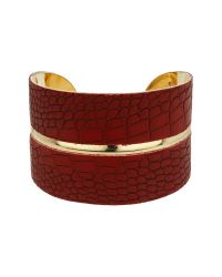 Mikey | Metallic Snake Look Curved Cuff | Lyst