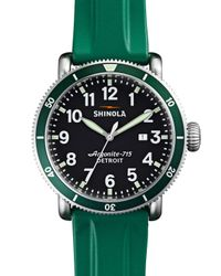 Shinola | Green 48Mm Runwell Sport Watch With Rubber Strap | Lyst