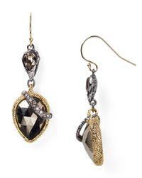 Alexis Bittar Black Elements Pyrite Winding Vine Drop Earrings