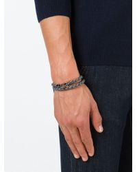 Tod's - Blue Braided Two Layer Bracelet for Men - Lyst
