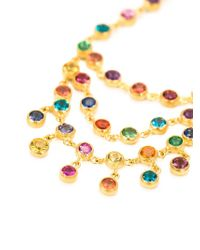 Marie-hélène De Taillac Metallic 18kt Gold 'rainbow' Chandelier Earrings