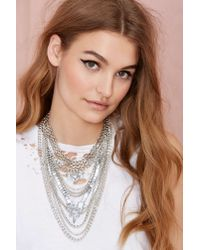 Nasty Gal | Metallic Empire Necklace | Lyst