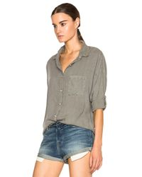 Bliss and Mischief - Green Rhodes Button Up Top - Lyst