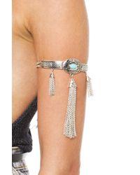 AKIRA Metallic Around The River Bend Arm Bracelet - Silver