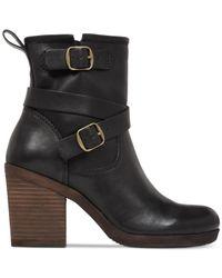 Lucky Brand | Black Women's Orenzo Buckle Block Heel Booties | Lyst