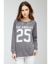 Forever 21 - Gray New York Sweatshirt - Lyst