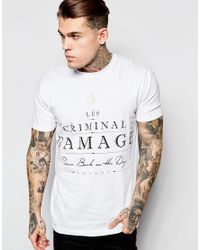 Criminal Damage | White Label T-shirt for Men | Lyst