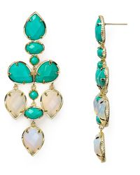 Kendra Scott | Green Pacey Earrings | Lyst