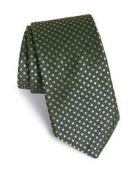 Ted Baker - Green Dot Silk Tie for Men - Lyst
