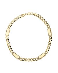 Lord & Taylor | Metallic 14k Yellow Gold Mens Link Bracelet for Men | Lyst