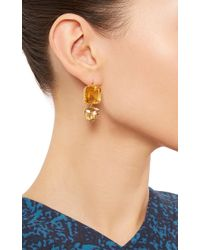 Renee Lewis Metallic 18K Yellow Gold Citrine And Topaz Earrings