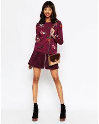 ASOS | Purple Christmas Jumper With Christmas Embellishment | Lyst