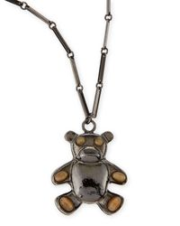Tuleste | Metallic Bear Pendant Necklace | Lyst