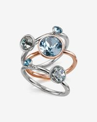 Ted Baker   Blue Jewel Cluster Ring   Lyst