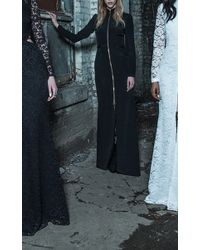 Houghton Black Alice Corded Lace Gown