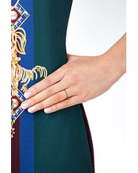 Ileana Makri - 18k Yellow Gold Ring With Green Diamonds - Multicolor - Lyst