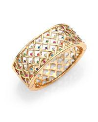 kate spade new york | Metallic Little Ladybug Crystal Caining Bracelet | Lyst