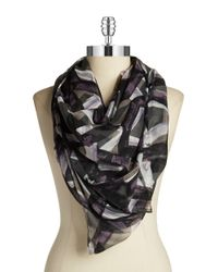 Vince Camuto | Gray Printed Scarf | Lyst