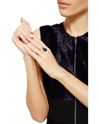 Nina Runsdorf - Blue Sapphire Cabachon Flip Ring - Lyst