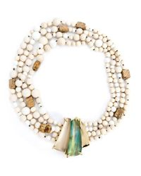 Alexis Bittar - Natural 'tressard' Multi Strand Necklace - Lyst