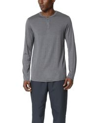 Theory | Gray Billey Kroma Henley for Men | Lyst