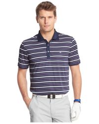 Izod | Purple On A Boat Striped Oxford Performance Golf Polo for Men | Lyst