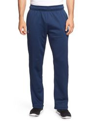 Under Armour Blue Loose Fit Moisture Wicking Fleece Pants for men