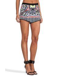 Clover Canyon - Multicolor Havana Paisley Shorts in Black - Lyst