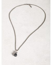 John Varvatos Blue Cat Eye Necklace for men