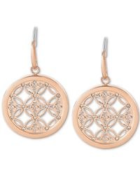 Michael Kors | Pink Small Monogram Circle Drop Earrings | Lyst