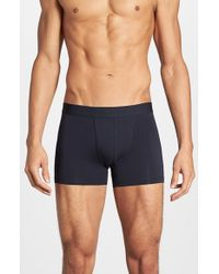Bread & Boxers - Blue Stretch Cotton Boxer Briefs for Men - Lyst